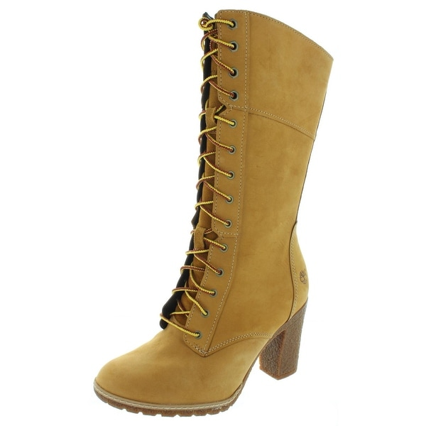 72a5044909f3 Timberland Womens Glancy Mid-Calf Boots Suede Lace-Up - 8.5 medium (b
