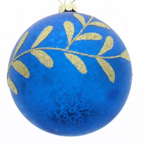 Midnight Blue Gold Leaf Ball
