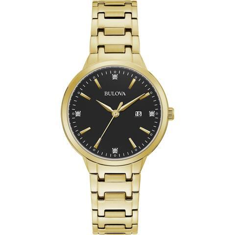 Bulova Women's 97P147 Goldtone Diamond Accent Dial Bracelet Watch - Gold-Tone