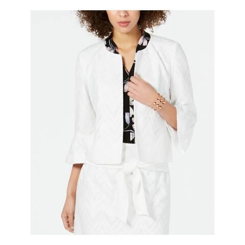 NINE WEST Womens Ivory Wear To Work Jacket Size 10