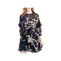 Rachel Rachel Roy Womens Party Dress Floral Print Ruffled