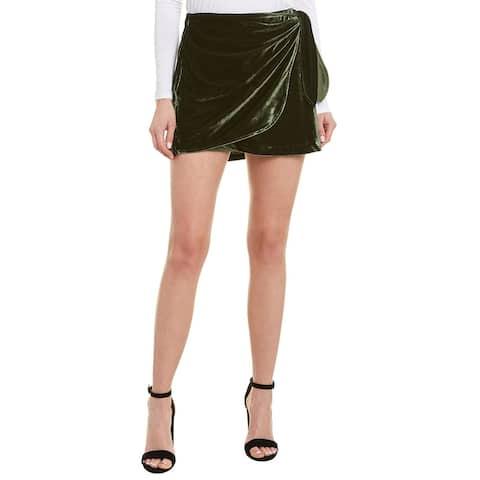 Cupcakes And Cashmere Koshi Velvet Wrap Skirt