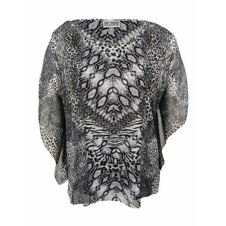 JM Collection Women's Embellished Kimono Top - xL