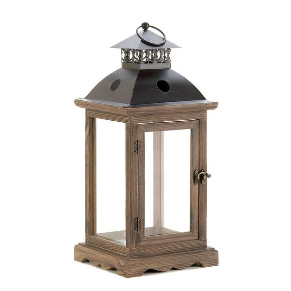 Natural Monticello Wood Lantern (L)