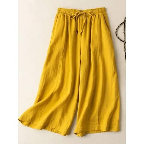 Loose And Versatile Casual High-Waisted Wide-Leg Pants