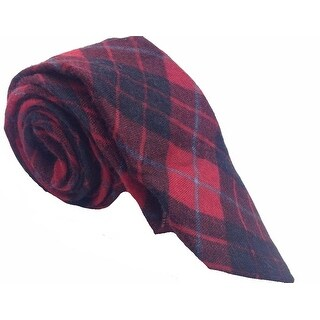 Original Penguin NEW Red Black Mens One Size Plaid Skinny Neck Tie
