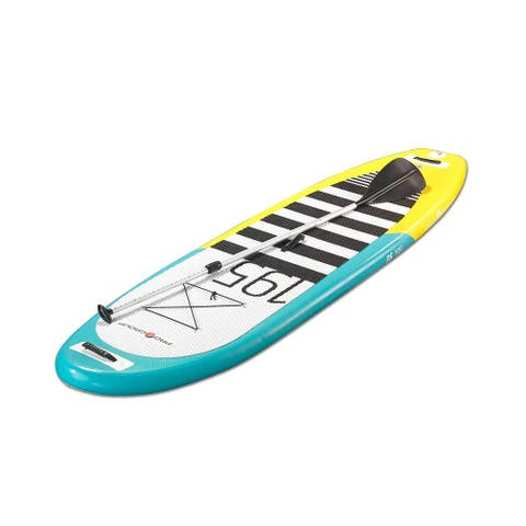 """Pro 6, P6-195, Inflatable SUP 9'10"""" L x 30"""" W / Carries up to 232 lbs weigh"""