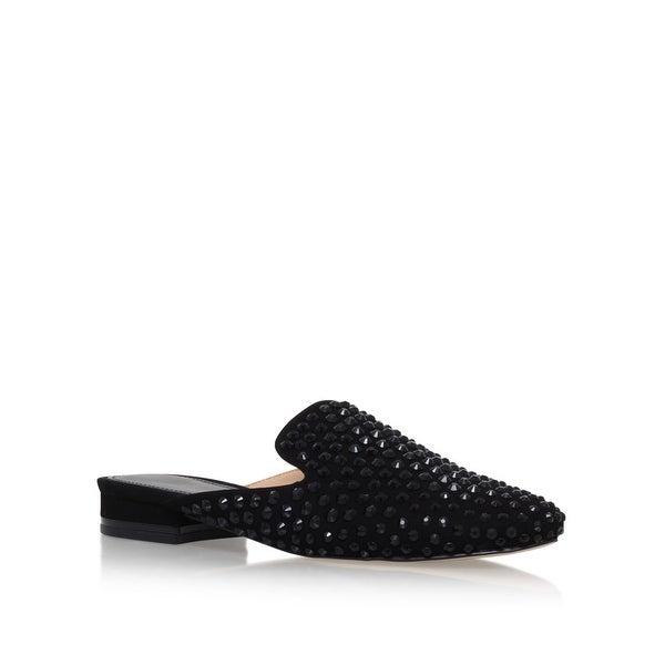 MICHAEL Michael Kors Womens Dani Leather Almond Toe Casual Slide Sandals