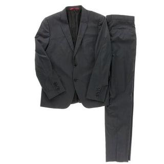 Hugo Hugo Boss Mens Aeron1/Hamen1 Wool 2PC Two-Button Suit - 42L