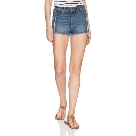 Lucky Brand Blue Womens Size 2/26 High-Rise Distressed Denim Shorts