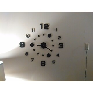 Modern Home Self-adhesive DIY 3D Compass Wall Clock