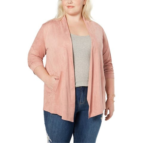 Style & Co. Womens Faux-Suede Jacket