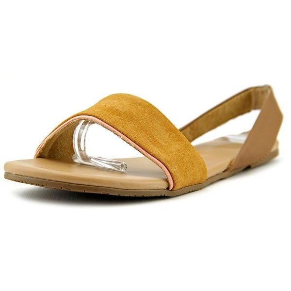 Tkees Charlie Women  Open-Toe Leather Tan Slingback Sandal