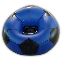 PVC Inflatable Sofa Football Shape Adults    blue