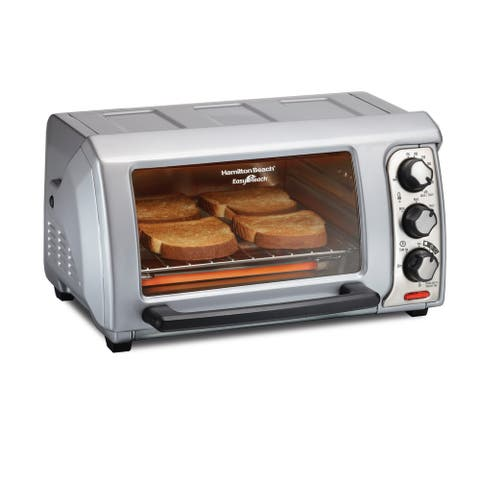 Hamilton Beach Easy Reach 4 Slice Toaster Oven with Roll-Top Door
