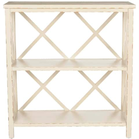 """SAFAVIEH Weymouth Distressed Ivory Bookcase - 33.5"""" x 13.5"""" x 35.6"""" - 33.5"""" x 13.5"""" x 35.6"""""""