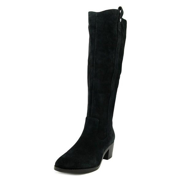 Marc Fisher Kimmee Women Round Toe Suede Black Knee High Boot