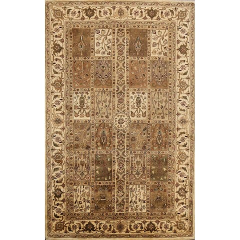 """Floral Traditional Garden Design Oriental Wool Area Rug Hand-tufted - 5'0"""" x 8'0"""""""