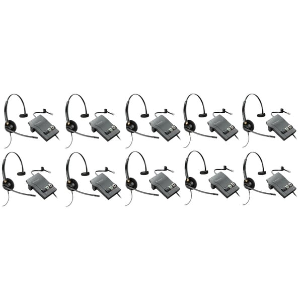 Plantronics Encore Pro HW510 with M22 (10-Pack) Monaural Noise-Cancelling Headset