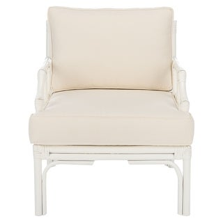 "Link to Safavieh Kazumi Rattan Accent Chair with Cushion - 27.6"" W x 31.5"" L x 31.5"" H Similar Items in Living Room Chairs"