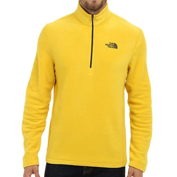 0824c2bae The North Face NEW Yellow Mens Size Large L Pullover Fleece Jacket