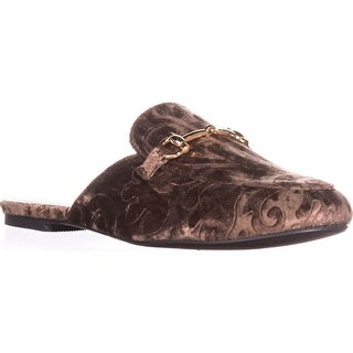 Wanted Scrolls Flat Mules, Taupe - 7 us / 37 eu
