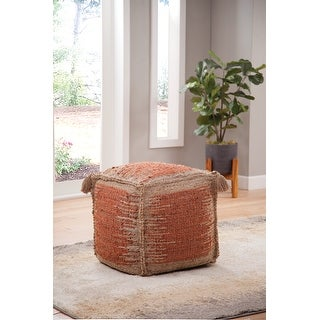 Link to The Curated Nomad Jansen Handwoven Jute Pouf Similar Items in Ottomans & Storage Ottomans