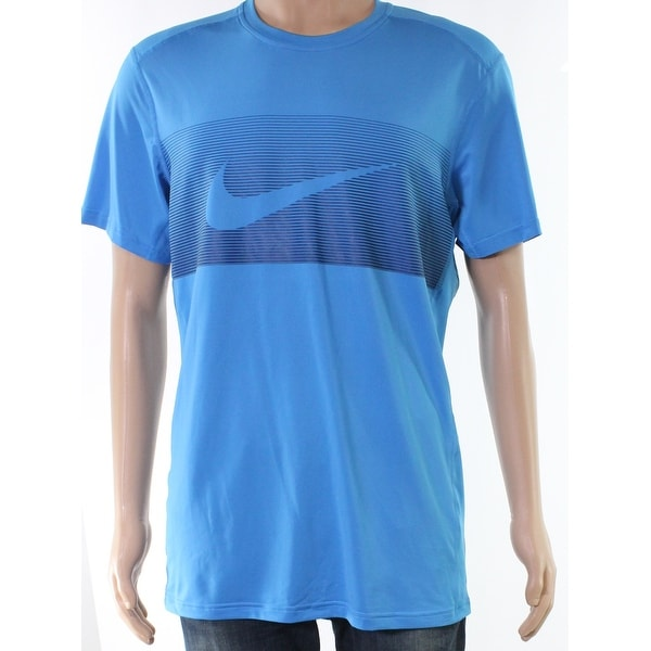 c659af7f4f10 Shop Nike Blue Mens Size Large L Logo Print Activewear Short Sleeve - On  Sale - Free Shipping On Orders Over  45 - Overstock - 27675465