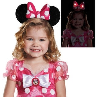 Girls Pink Minnie Mouse Light-Up Ears