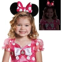 Girls Pink Minnie Mouse Light-Up Ears - standard - one size