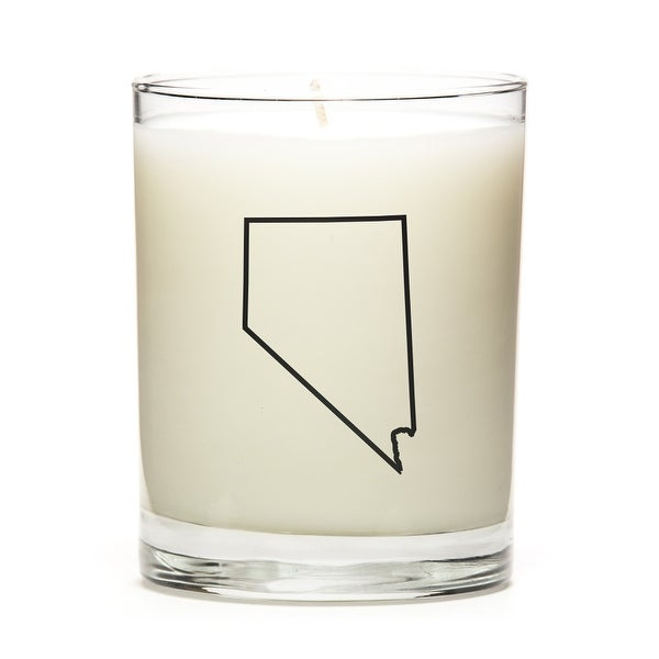 Custom Candles with the Map Outline Nevada, Pine Balsam