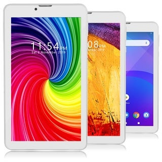 Indigi® 4G LTE  7-inch SmartPhone & TabletPC GSM Unlocked, QuadCore CPU, 2GB RAM/16GB ROM, Android Pie & DualSIM Slots (White)