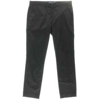 Polo Ralph Lauren Womens Ankle Pants Sateen Flat Front