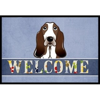 Carolines Treasures BB1429MAT Basset Hound Welcome Indoor & Outdoor Mat 18 x 27 in.