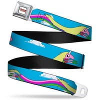 Adventure Time Logo White Full Color Lady Raincorn Poses Webbing Seatbelt Seatbelt Belt
