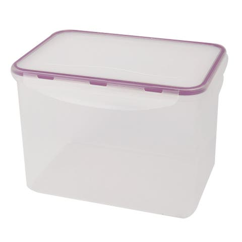 Home Kitchenware PP Square Lid Food Fresh Storage Dispenser Container Case Clear
