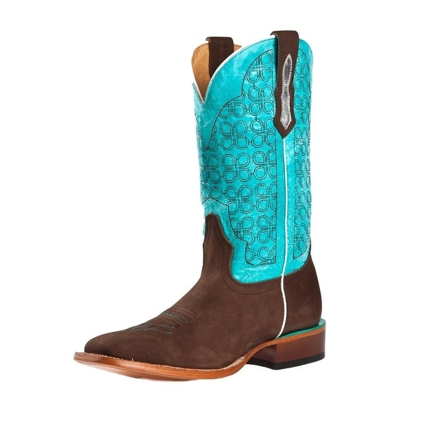 Johnny Ringo Western Boots Womens Cowboy Leather Turquoise