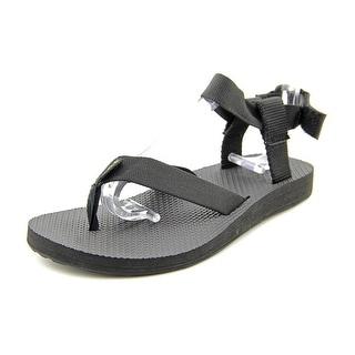 Teva Original Sandal Women  Open Toe Canvas Black Thong Sandal