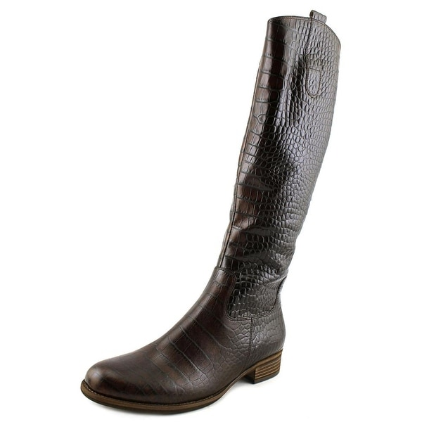 Gabor 91.639 Women Round Toe Leather Brown Knee High Boot