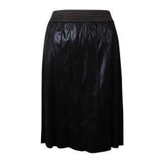 Modamix Women's Pleated Faux Leather Shimmer Skirt - Jet Black|https://ak1.ostkcdn.com/images/products/is/images/direct/902973eeb82dbf23b25be64476186fc57d91266a/Modamix-Women%27s-Pleated-Faux-Leather-Shimmer-Skirt.jpg?impolicy=medium