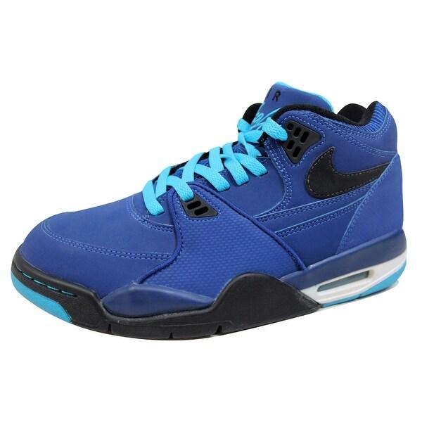 Nike Men's Air Flight 89 Dark Royal Blue/Black-Current Blue-White 306252-401 Size 9