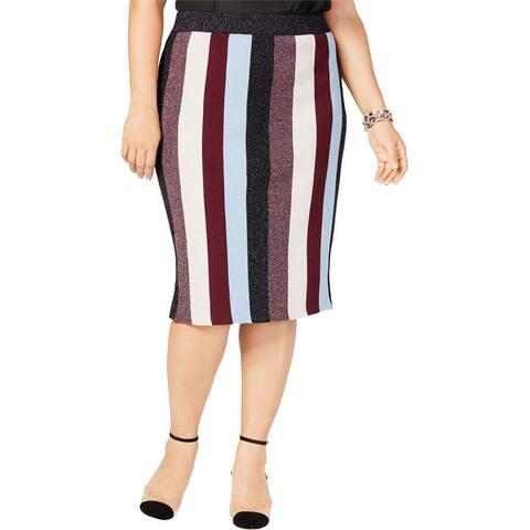 I-N-C Womens Lurex Pencil Skirt