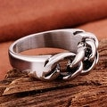 Vienna Jewelry Mini Chain Stainless Steel Ring - Thumbnail 1
