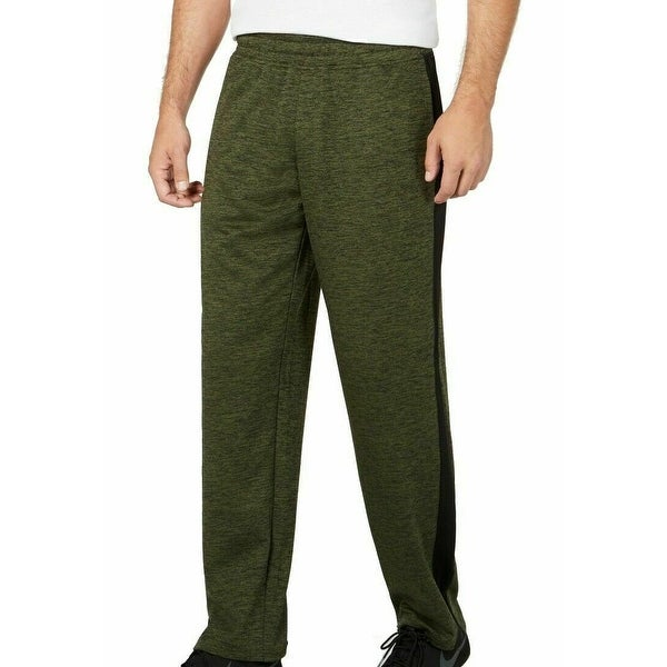 Ideology Mens Track Pant Green Large L Spacedye Side-Stripe Open-Hem. Opens flyout.