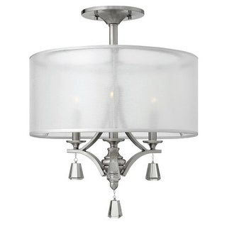 Fredrick Ramond FR45601 3 Light 1 Tier Drum Chandelier from the Mime Collection