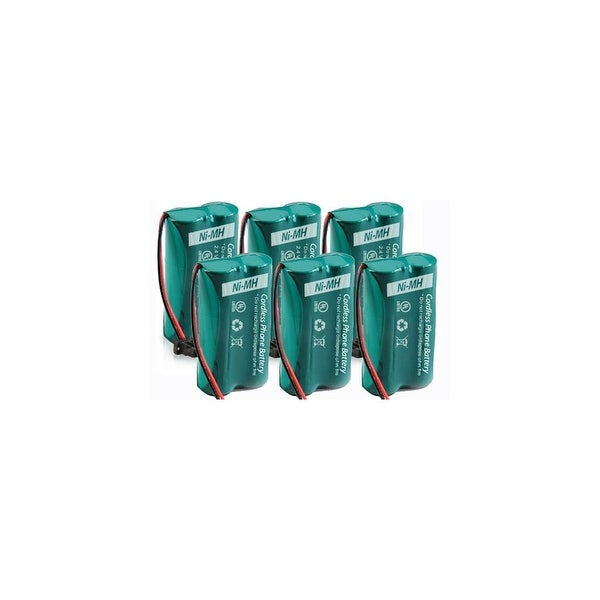 Replacement For GE/RCA 5-2540 / 5-2734 Cordless Phone Battery (500mAh, 2.4V, Ni-MH) - 6 Pack