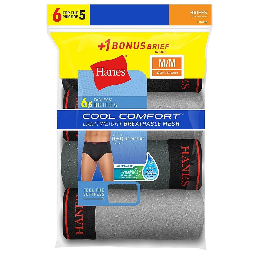 L Hanes Men/'s FreshIQ™ ComfortBlend® Dyed Briefs 4 Pack Black S 2XL XL M