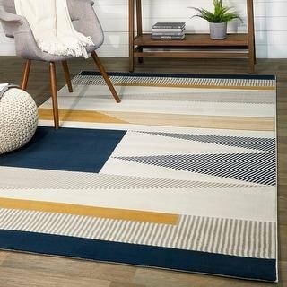 Link to Carson Carrington Islebo Polypropylene Geometric Indoor Area Rug Similar Items in Rugs