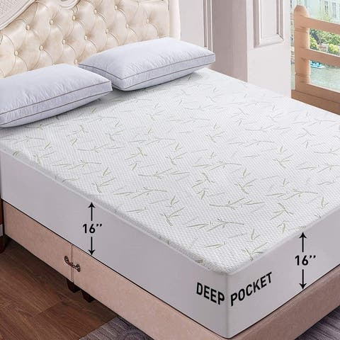 Waterproof Mattress Pad Cover High Quality Bamboo Mattress Protector in All Sizes