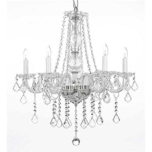 Swarovski Elements Crystal Trimmed Chandelier Lighting H25 x W24